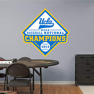 UCLA Bruins 2013 NCAA® Men's Baseball National Championship Logo Fathead Wall Decal
